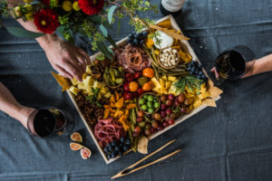 Twelve Baskets Catering Charcuterie Wine Appetizer Platters Seattle Arielle Vey Photography