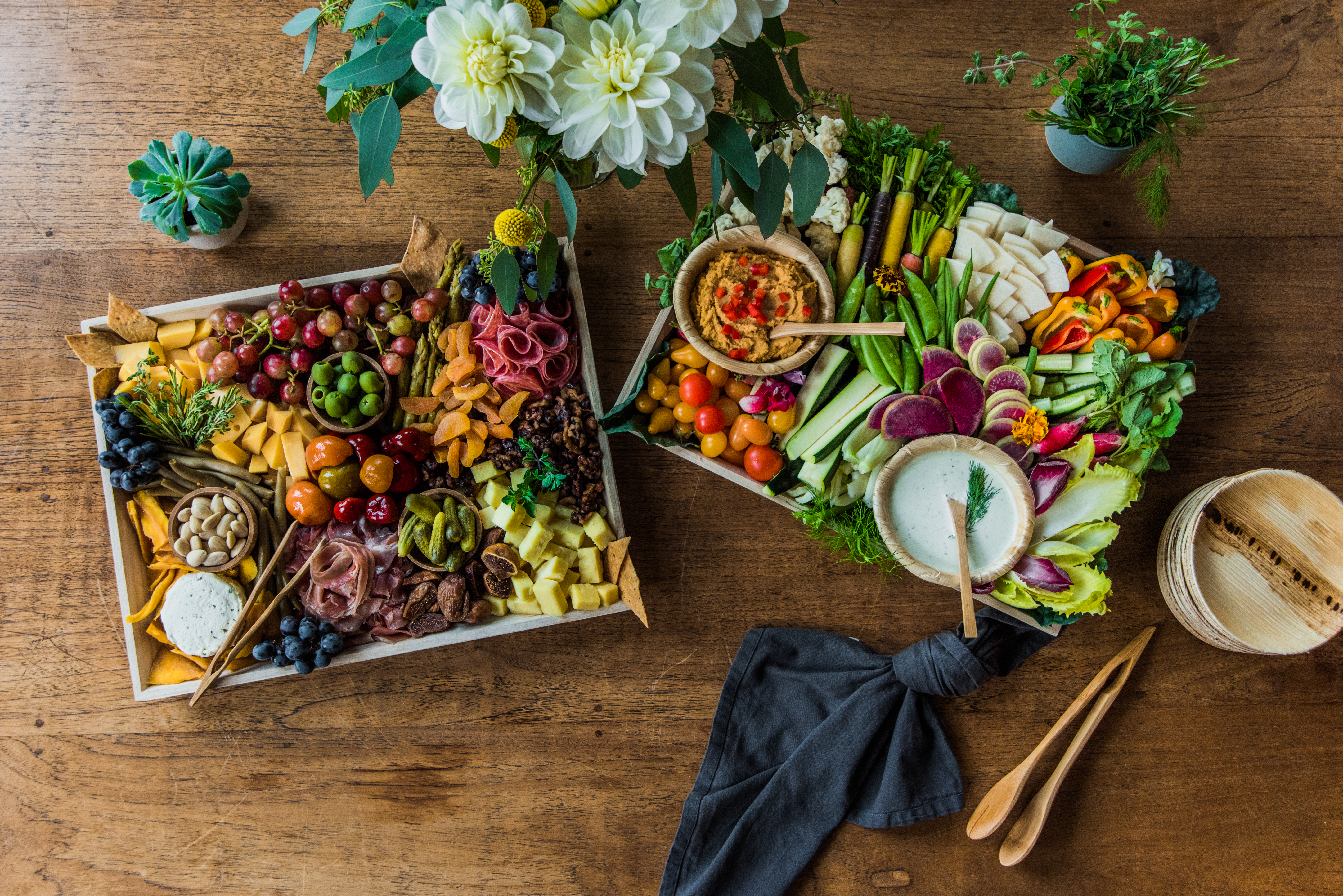 Twelve Baskets Catering Appetizer Platter Seattle Arielle Vey Photography